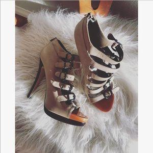 ALDO leather buckle heels sz: 8